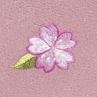 【ネコポス可】お弁当フロシキ・春刺繍 桜(薄紅色)