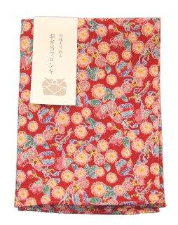 【ネコポス可】お弁当フロシキ・京小紋 桜に蝶(RD)
