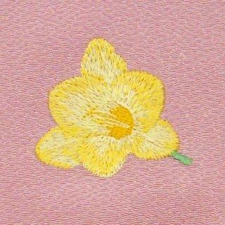 【ネコポス可】歳時記ふろしき・花 フリージア(薄紅色)