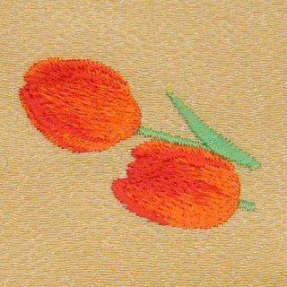 【ネコポス可】歳時記ふろしき・花 チューリップ(丁子色)