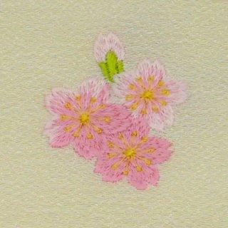 【ネコポス可】歳時記ふろしき・花 サクラ(卯の花色)