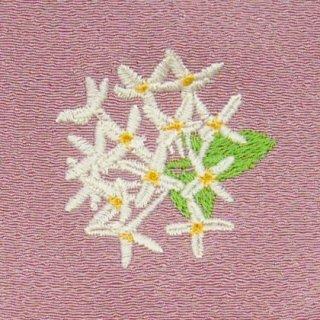 【ネコポス可】歳時記ふろしき・花 ブバルディア(紅樺色)