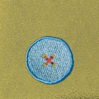 【ネコポス可】ボタン姫ふろしき 無地(わさび色)