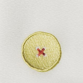 【ネコポス可】ボタン姫ふろしき 無地(白色)