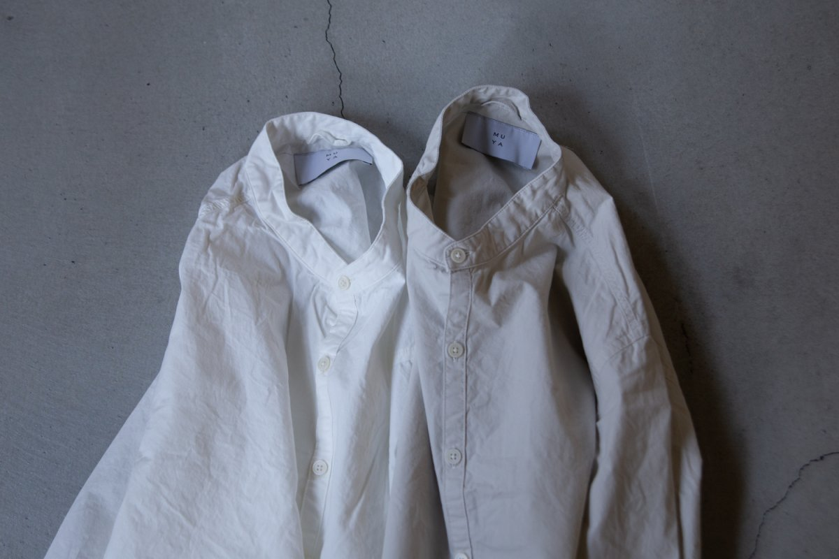 MUYA 40/1 Atelier shirts relax stand collar /2color