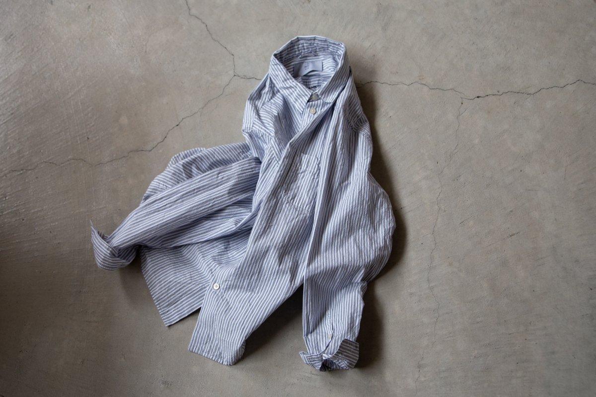 MUYA 60/1 Atelier shirts relax Regular collar  Blue stripe