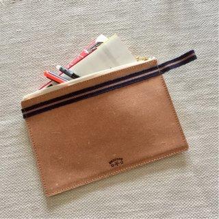 Leather×真田紐 平ポーチ・M