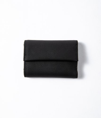 ERA. / BUBBLE CALF TINY WALLET「Black」