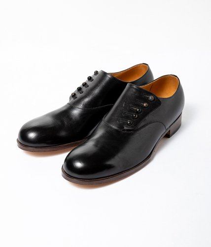 forme (フォルメ)  / Button Up Shoes Plain Toe「Calf Leather black」