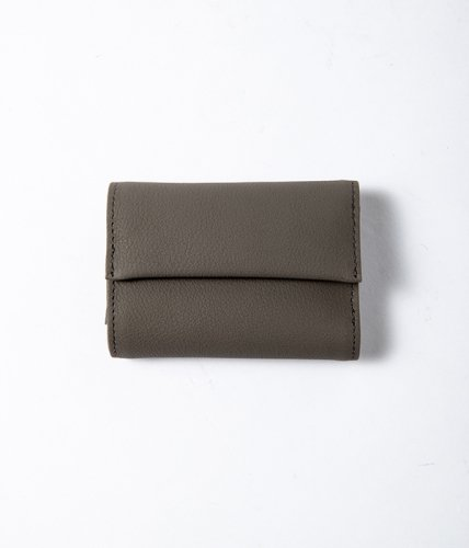 ERA. / BUBBLE CALF TINY WALLET「Gray」