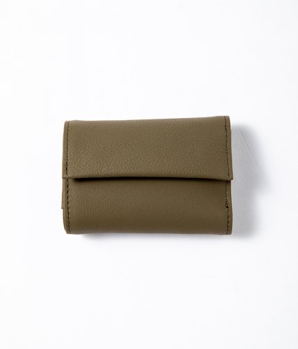 ERA. / BUBBLE CALF TINY WALLET「Olive」