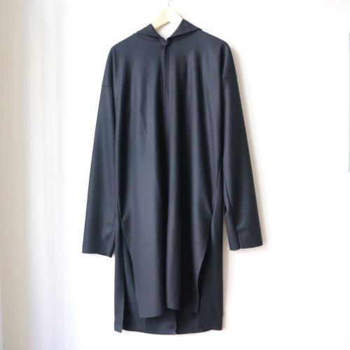 MITTAN / ウールスムースロングフードジャケット JS-04 「黒」