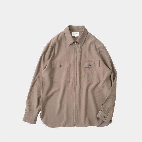STILL BY HAND / フロントジップシャツ【SH03203】Dusty Orange