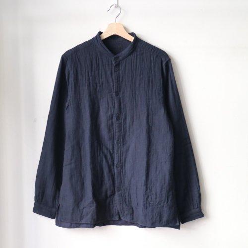 MITTAN / 三重織綿麻シャツ SH-49 「紺がさね」」