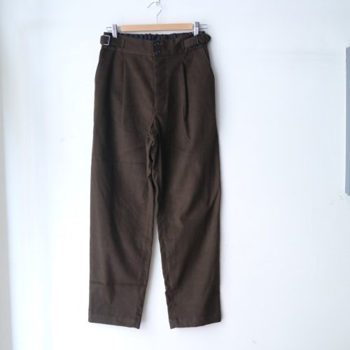 comm.arch. / Mole Skin Buckled Trousers「Deep Forest」