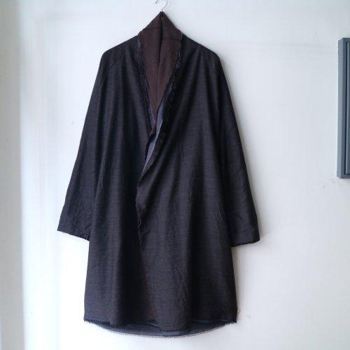 MITTAN / 三重織綿絹毛麻ジャケット JK-23 「茶がさね」