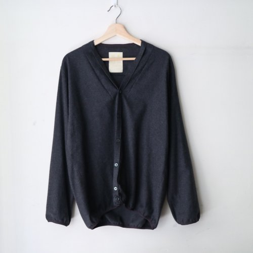 KIMURA / Shaggy Cardigan / Narrowing v20「Charcoal」