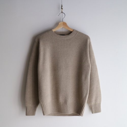 comm.arch./ Hand Framed Crew Neck P/O「Skins」