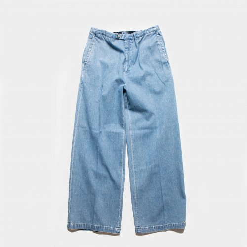 <img class='new_mark_img1' src='https://img.shop-pro.jp/img/new/icons6.gif' style='border:none;display:inline;margin:0px;padding:0px;width:auto;' />WESTOVERALLS /  GOOD FIT DENIM TROUSERS 「BIOBLU」