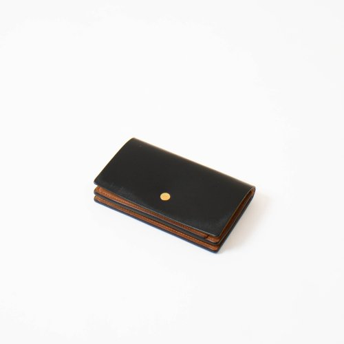 forme (フォルメ)  / Card Case 「Bridle Leather Black × SHF Reverse」