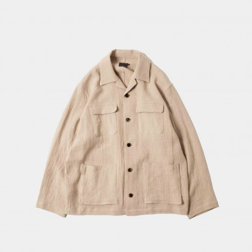 <img class='new_mark_img1' src='https://img.shop-pro.jp/img/new/icons6.gif' style='border:none;display:inline;margin:0px;padding:0px;width:auto;' />comm.arch./ Linen Viyella Jacket 「Chino」