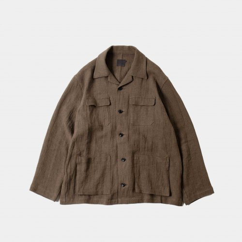 <img class='new_mark_img1' src='https://img.shop-pro.jp/img/new/icons6.gif' style='border:none;display:inline;margin:0px;padding:0px;width:auto;' />comm.arch./ Linen Viyella Jacket 「Mud Brown」