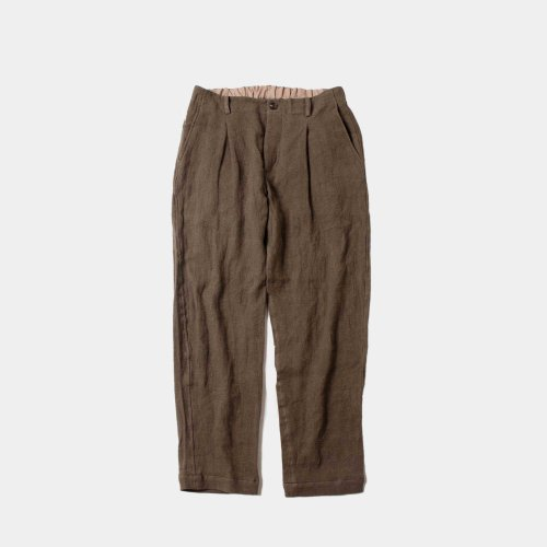 <img class='new_mark_img1' src='https://img.shop-pro.jp/img/new/icons6.gif' style='border:none;display:inline;margin:0px;padding:0px;width:auto;' />comm.arch./ Linen Viyella Trousers 「Mud Brown」
