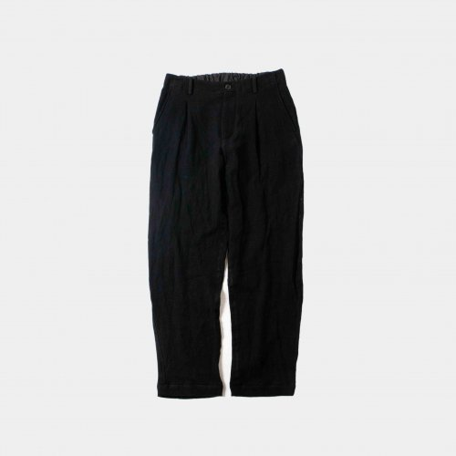 <img class='new_mark_img1' src='https://img.shop-pro.jp/img/new/icons6.gif' style='border:none;display:inline;margin:0px;padding:0px;width:auto;' />comm.arch./ Linen Viyella Trousers 「Blackout」
