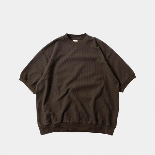 <img class='new_mark_img1' src='https://img.shop-pro.jp/img/new/icons6.gif' style='border:none;display:inline;margin:0px;padding:0px;width:auto;' />blurhms / Rough & Smooth Thermal Pullover S/S 「KhakiGrey」