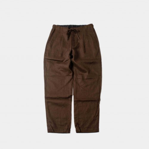 <img class='new_mark_img1' src='https://img.shop-pro.jp/img/new/icons6.gif' style='border:none;display:inline;margin:0px;padding:0px;width:auto;' />comm.arch. / Linen Easy Trousers 「Mud Brown」