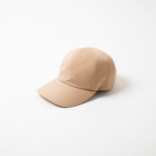 MATURE HA._MIL / Cotton Linen 素材 Trainer Cap 「Light Brown」<img class='new_mark_img2' src='https://img.shop-pro.jp/img/new/icons6.gif' style='border:none;display:inline;margin:0px;padding:0px;width:auto;' />