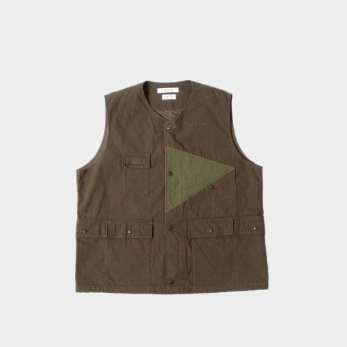 <img class='new_mark_img1' src='https://img.shop-pro.jp/img/new/icons6.gif' style='border:none;display:inline;margin:0px;padding:0px;width:auto;' />FUJITO / Hunting Vest 「Olive Green」