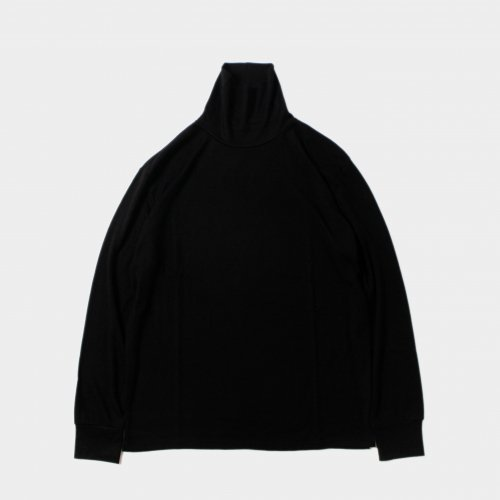<img class='new_mark_img1' src='https://img.shop-pro.jp/img/new/icons6.gif' style='border:none;display:inline;margin:0px;padding:0px;width:auto;' />comm.arch. / Super 120's Merino High Neck P/O 「Blackout」