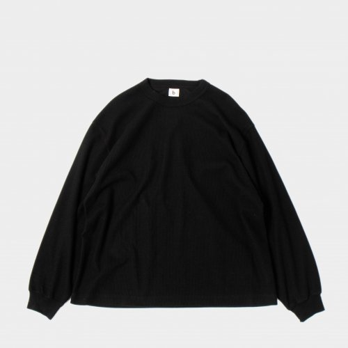 <img class='new_mark_img1' src='https://img.shop-pro.jp/img/new/icons6.gif' style='border:none;display:inline;margin:0px;padding:0px;width:auto;' />blurhms / Rough & Smooth Thermal Crew Neck L/S 「Black」