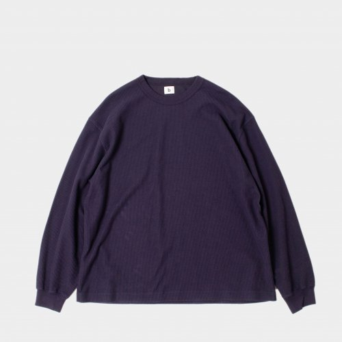 <img class='new_mark_img1' src='https://img.shop-pro.jp/img/new/icons6.gif' style='border:none;display:inline;margin:0px;padding:0px;width:auto;' />blurhms / Rough & Smooth Thermal Crew Neck L/S 「Purple Navy」