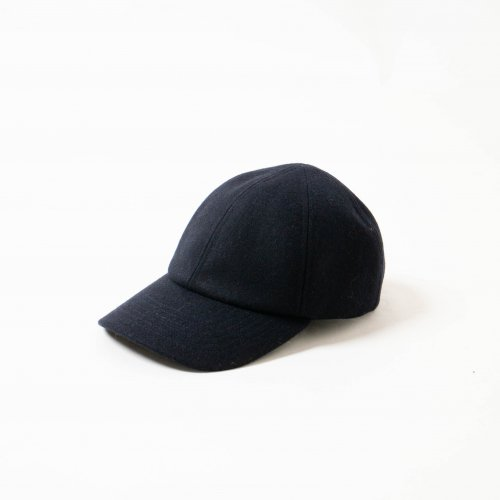 MATURE HA._MIL / メルトン素材 Trainer Cap 「Navy」<img class='new_mark_img2' src='https://img.shop-pro.jp/img/new/icons6.gif' style='border:none;display:inline;margin:0px;padding:0px;width:auto;' />