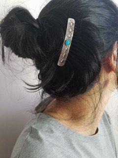 Indian jewellery(インディアンジュエリー)Navajo(ナバホ)族  シルバーコーム(大)ターコイズ