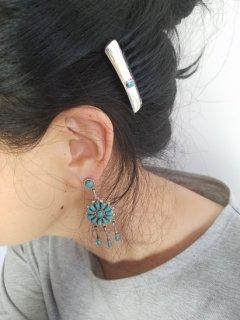 Indian jewellery(インディアンジュエリー)Navajo(ナバホ)族  シルバーコーム(小)ターコイズ【ネコポス指定可能】