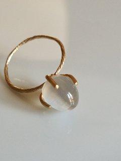 MAISON_RUBUS(メゾンルーバス)Eclair ring エクレールリング シリマナイトキャッツアイ 10KYG (Sillimanite cats eye)