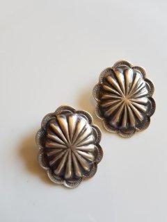 Indian jewellery(インディアンジュエリー)フラワーモチーフ2 ピアス Sterling Silver【ネコポス指定可能】