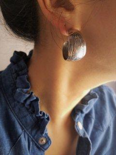 Indian jewellery(インディアンジュエリー) サンバースト フープモチーフピアス Sterling Silver