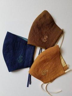 Bohemians(ボヘミアンズ) フォレストカラー リネンマスク 刺繍【ネコポス指定可能】