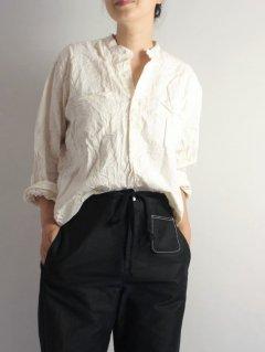 Vas-y Lentement(ヴァジー・ラントマン) オーバーサイズ  バンドカラーシャツ