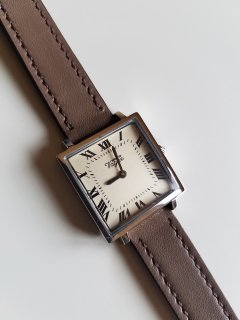Vague Watch Co.( ヴァーグウォッチカンパニー)CARRE (SS champagne×Greyベルト)