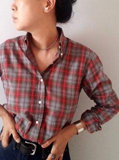 SOUTIENCOL(スティアンコル)ボタンダウン チェックシャツ(CANCLINI)