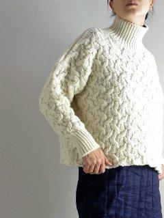 McCONNELL(マコネル) Knitting mills (Made in Ireland) アランタートルネック Aran Turtleneck