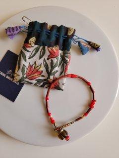 ★TIGRE BROCANTE(ティグルブロカンテ) ナロービーズブレスレット Narrow beads bracelet (Red mix)【ネコポス指定可】