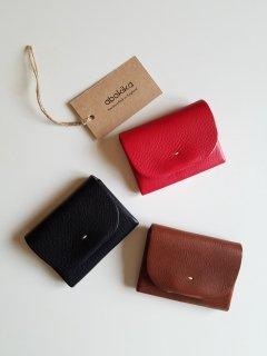 abokika(アボキカ)オリジナルウォレット vegetan textured leather from Italy 【ネコポス指定可能】