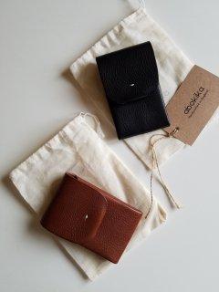 abokika(アボキカ)オリジナルカードホルダー vegetan textured leather from Italy 【ネコポス指定可能】