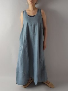 <img class='new_mark_img1' src='https://img.shop-pro.jp/img/new/icons8.gif' style='border:none;display:inline;margin:0px;padding:0px;width:auto;' />★Honnete (オネット)タンクドレスワンピース New Tank Dress OP (Piece Dyed Irish Linen)